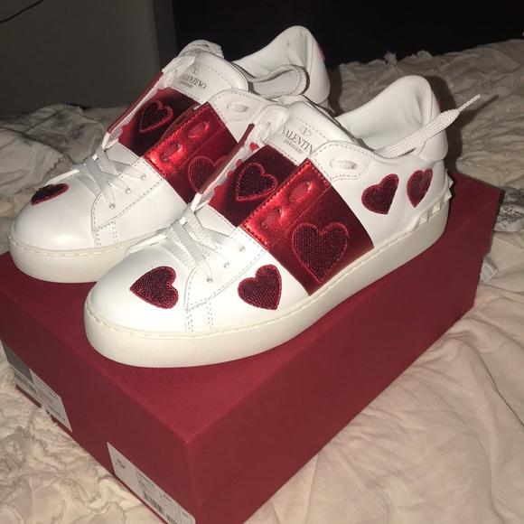 Valentino Heart Sequin Sneakers